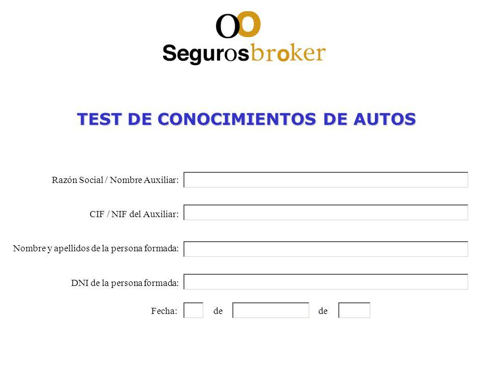 TEST DE CONOCIMIENTOS DE AUTOS