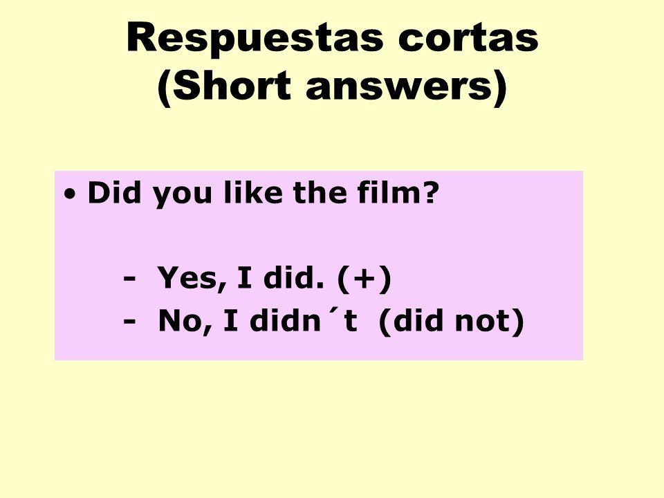 Respuestas cortas (Short answers)