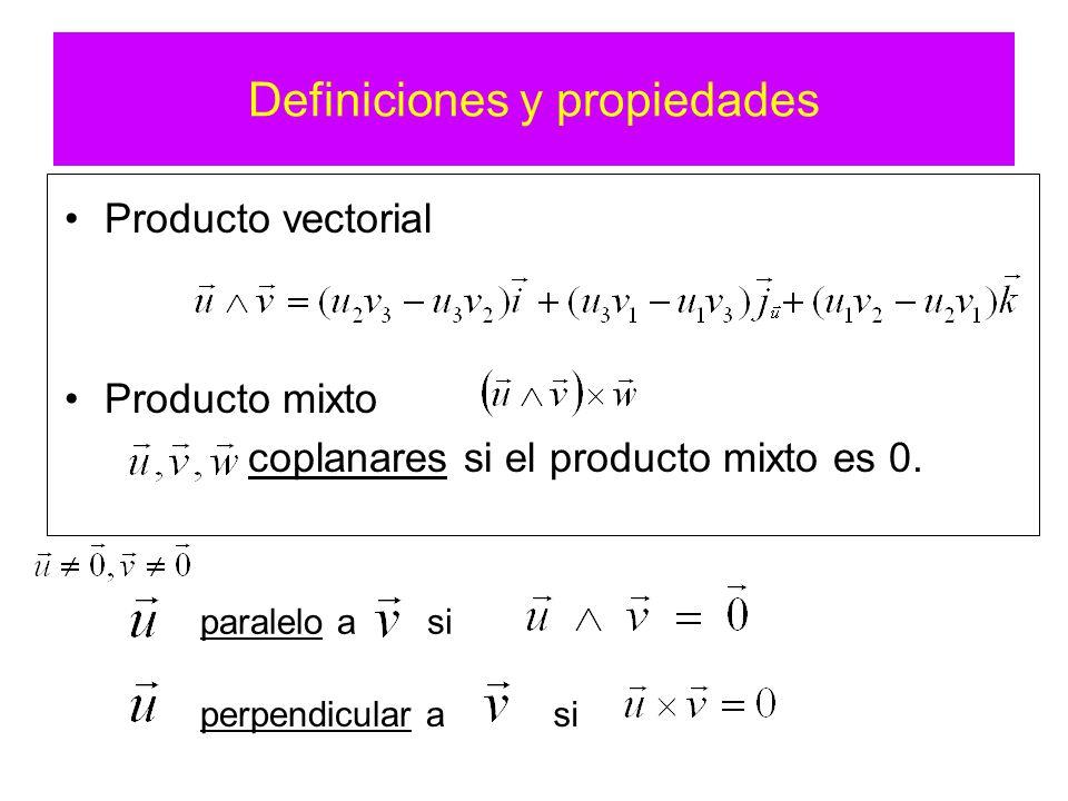 Definiciones y propiedades