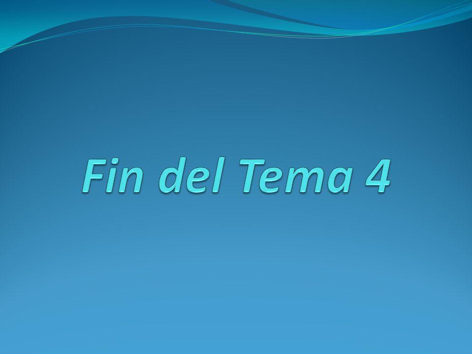 Fin del Tema 4