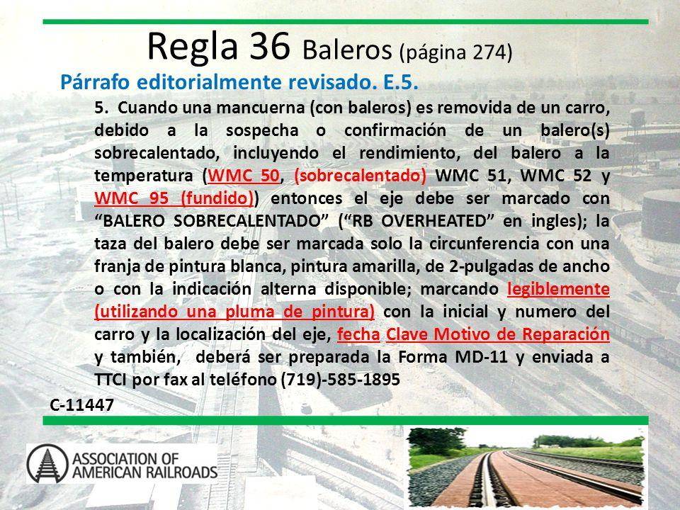 Regla 36 Baleros (página 274)
