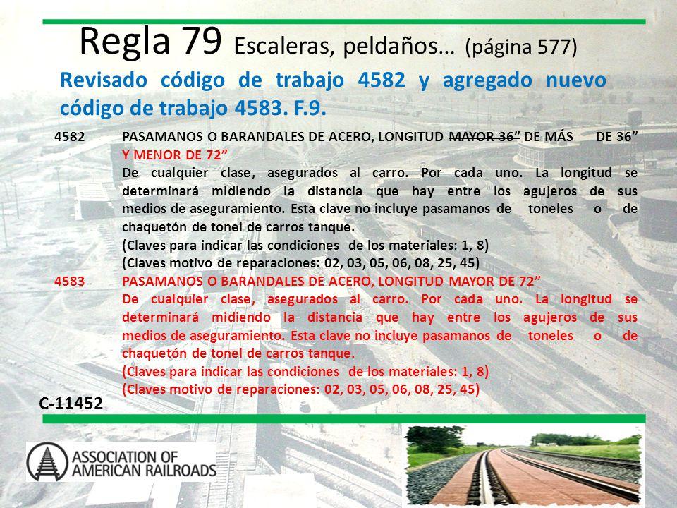 Regla 79 Escaleras, peldaños… (página 577)