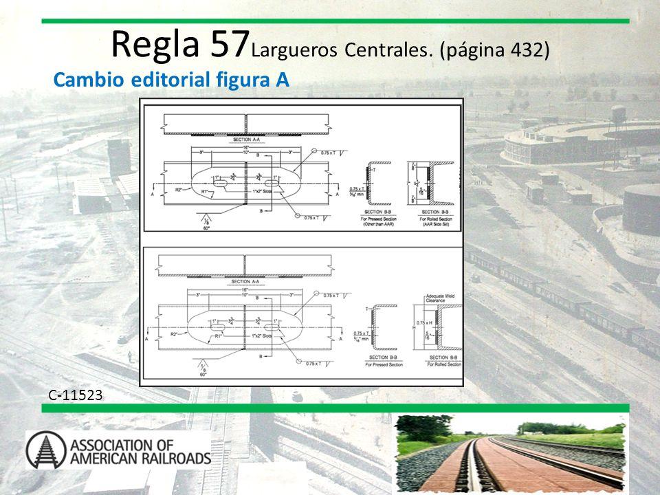 Regla 57Largueros Centrales. (página 432)