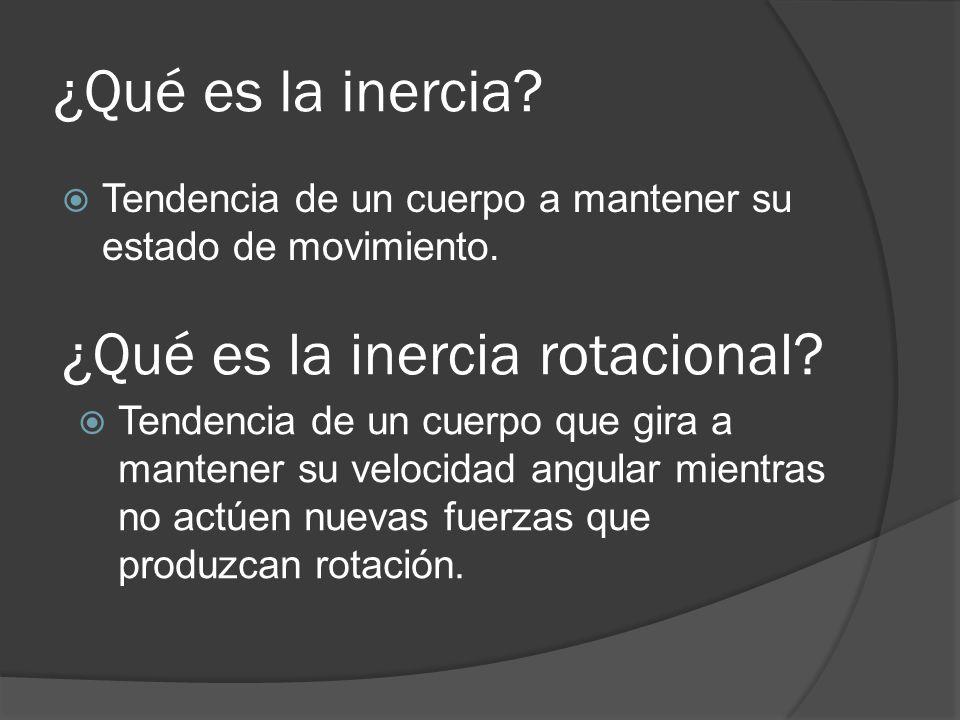 ¿Qué es la inercia rotacional