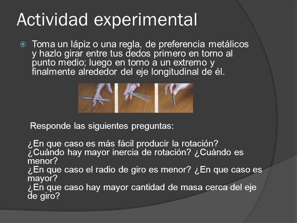 Actividad experimental