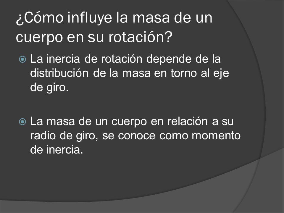 ¿Cómo influye la masa de un cuerpo en su rotación