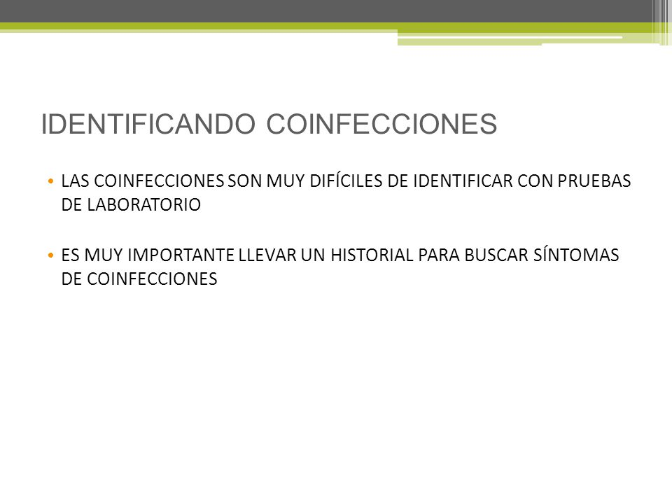 IDENTIFICANDO COINFECCIONES