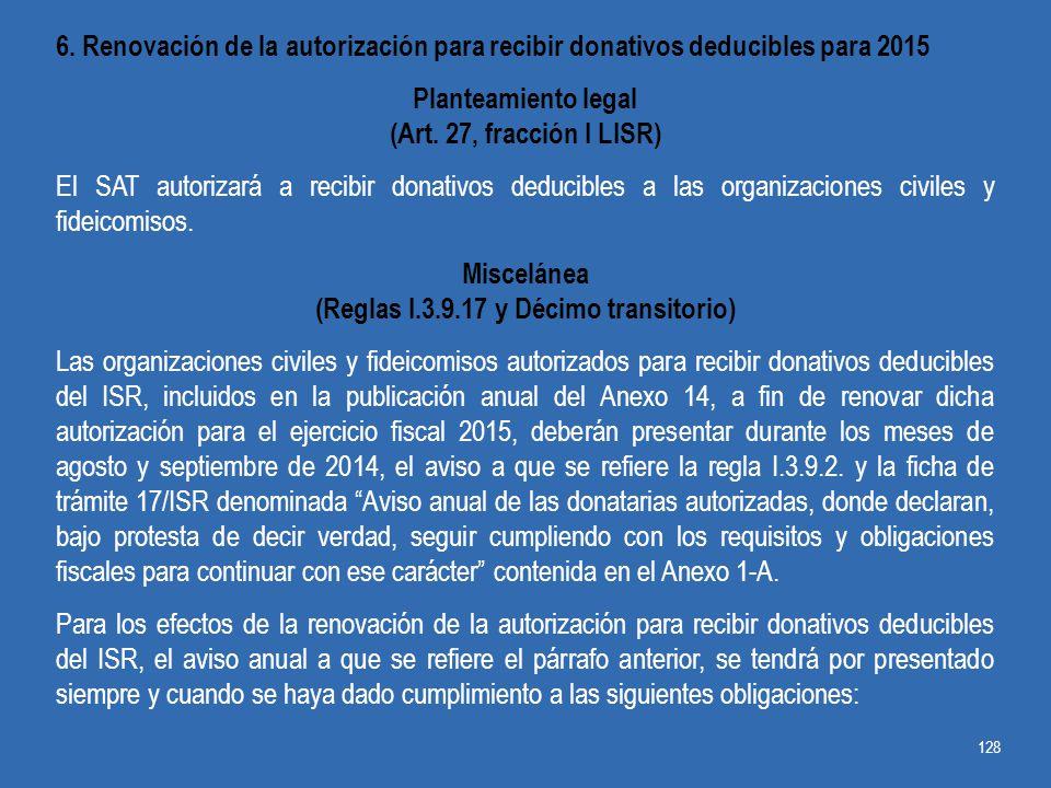 (Reglas I.3.9.17 y Décimo transitorio)
