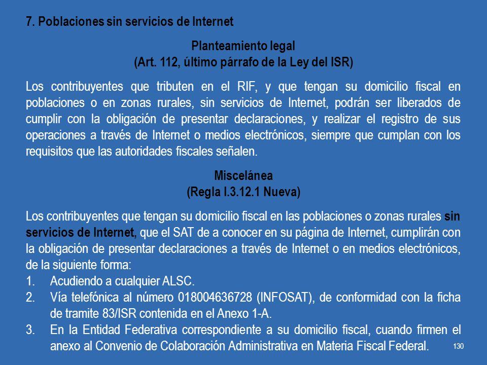 (Art. 112, último párrafo de la Ley del ISR)