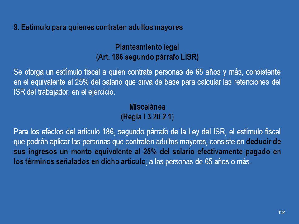 (Art. 186 segundo párrafo LISR)
