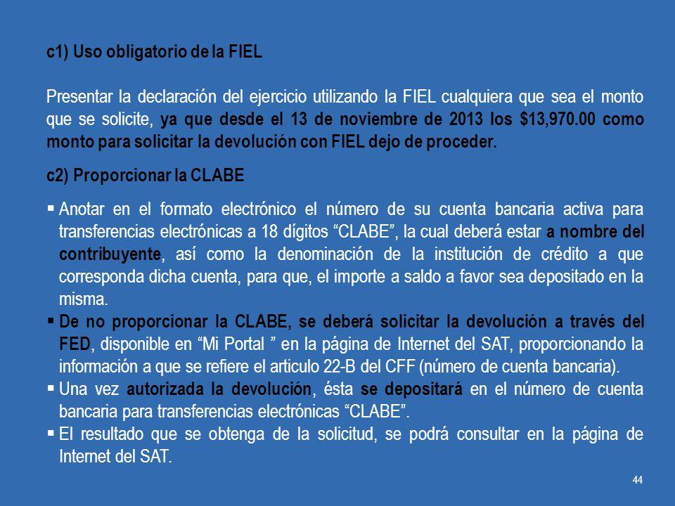 c1) Uso obligatorio de la FIEL