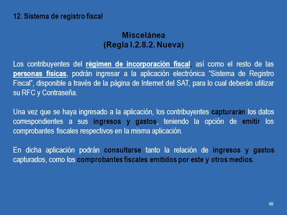 12. Sistema de registro fiscal
