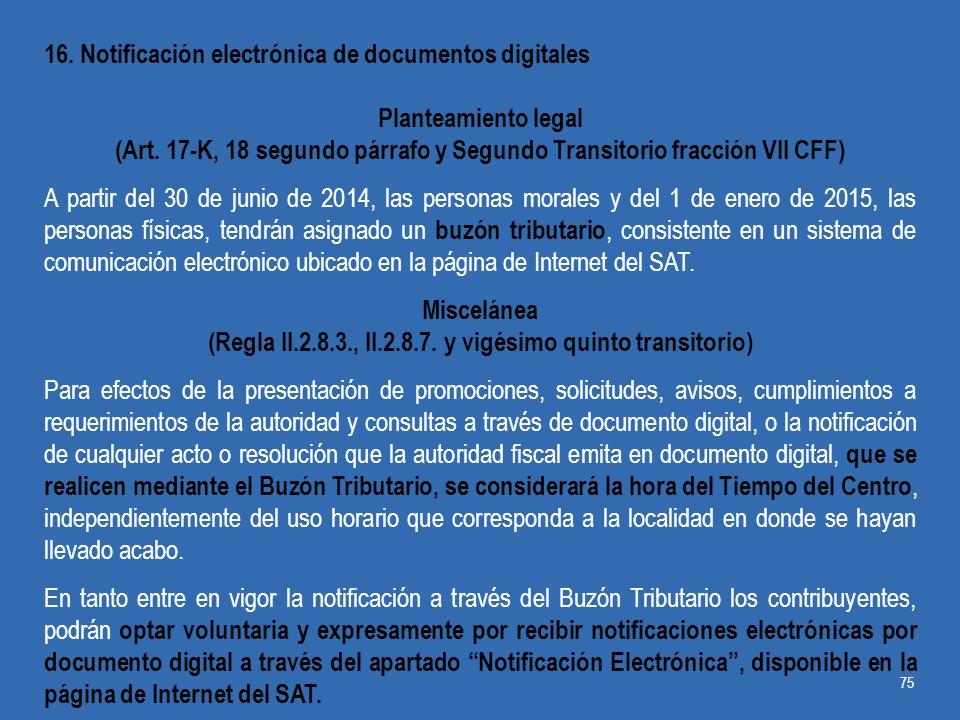 16. Notificación electrónica de documentos digitales
