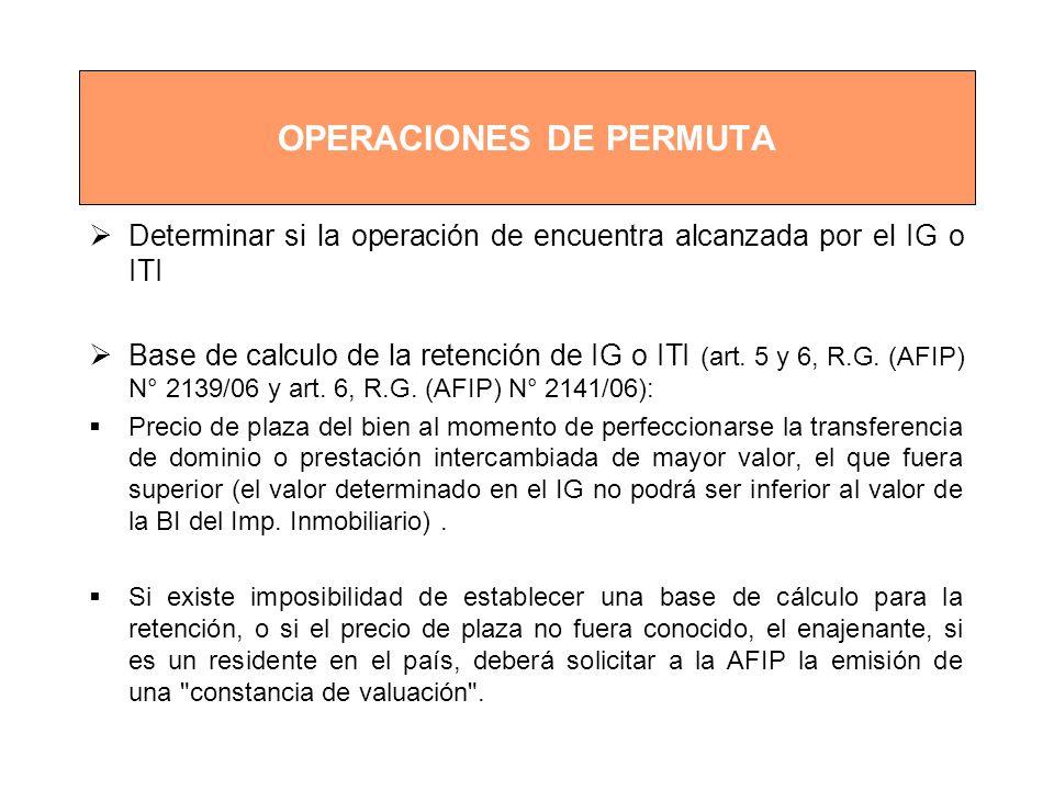 OPERACIONES DE PERMUTA