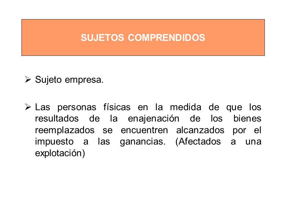 SUJETOS COMPRENDIDOS Sujeto empresa.