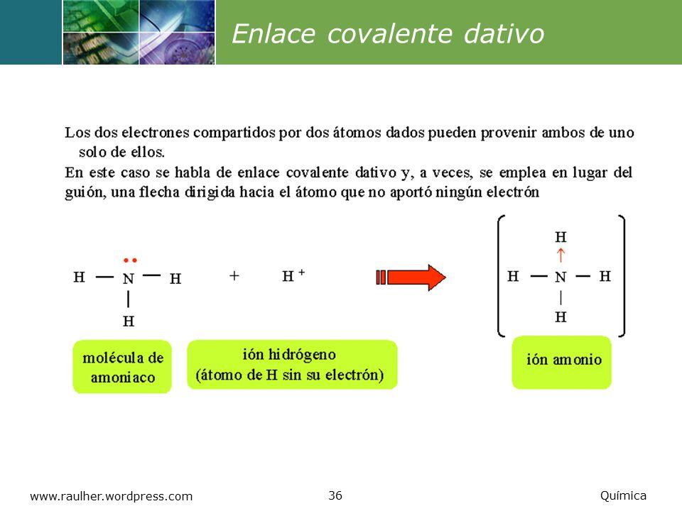 Enlace covalente dativo