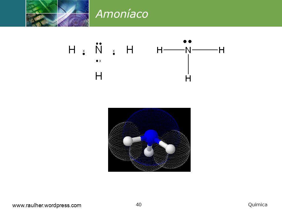 Amoníaco www.raulher.wordpress.com Química
