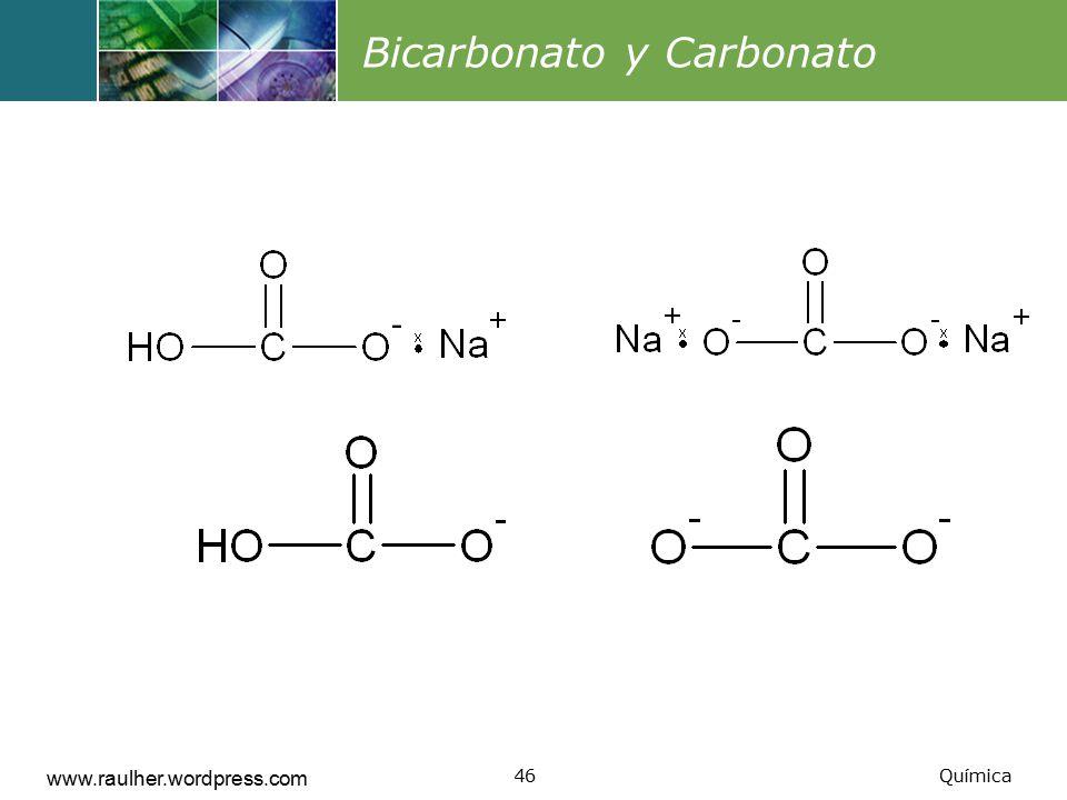 Bicarbonato y Carbonato