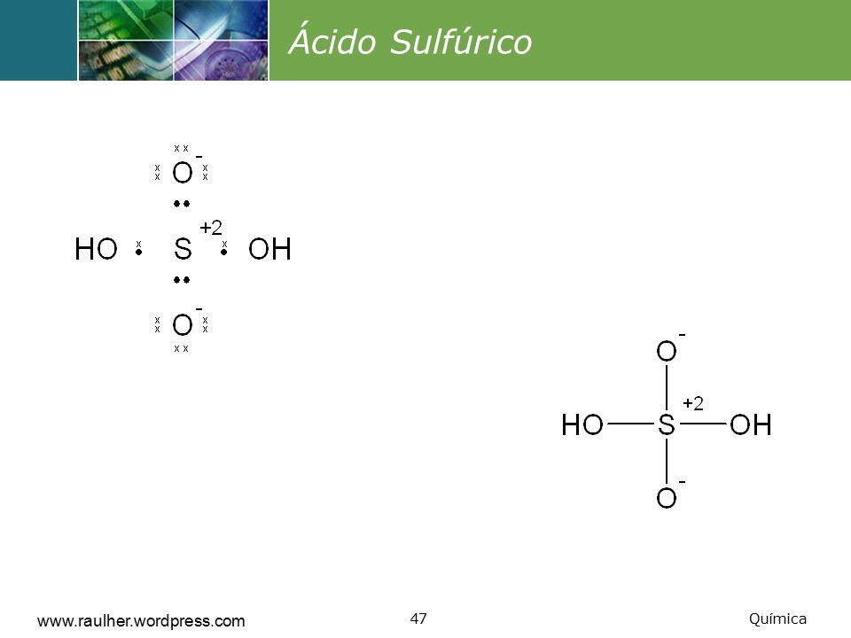 Ácido Sulfúrico www.raulher.wordpress.com Química
