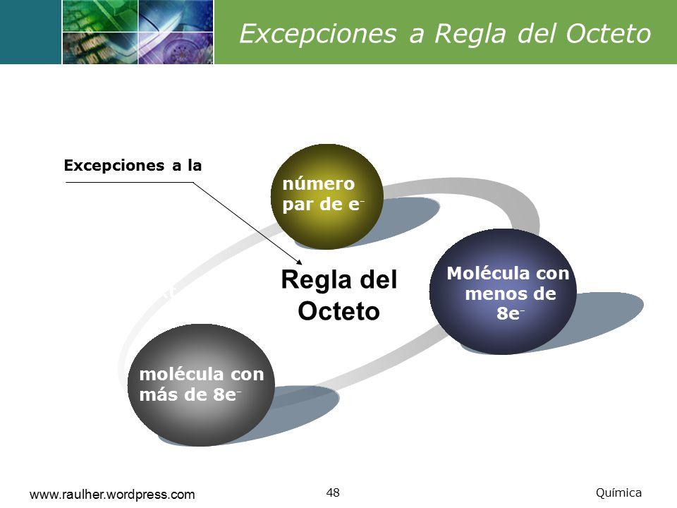 Excepciones a Regla del Octeto