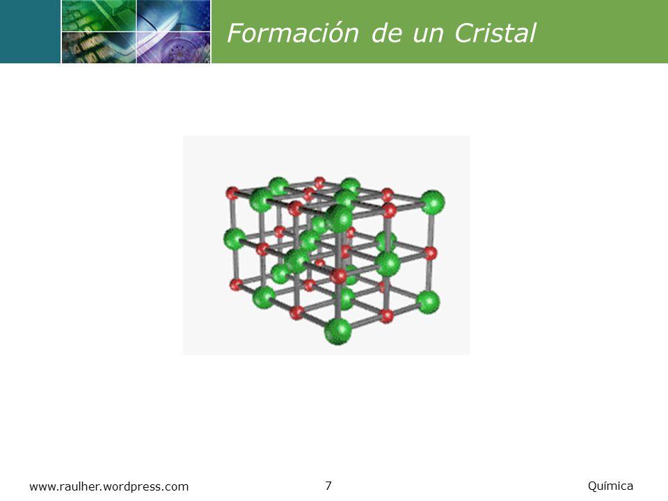 Formación de un Cristal