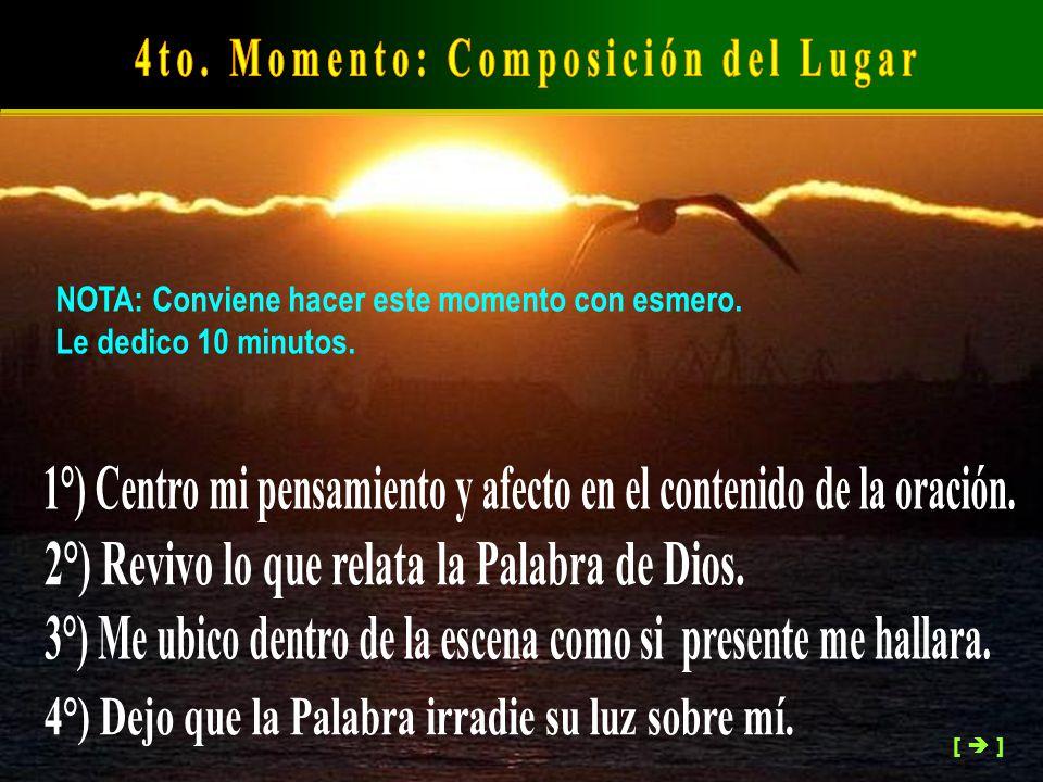 4to. Momento: Composición del Lugar