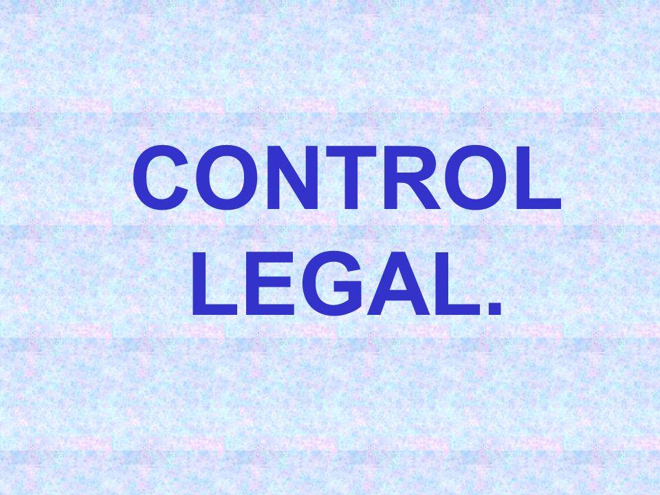 CONTROL LEGAL.