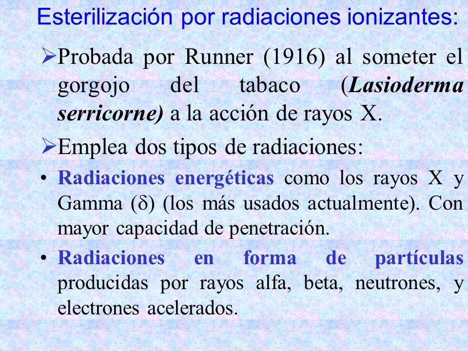 Esterilización por radiaciones ionizantes: