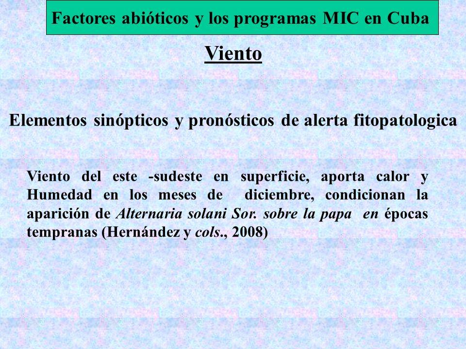 Viento Factores abióticos y los programas MIC en Cuba