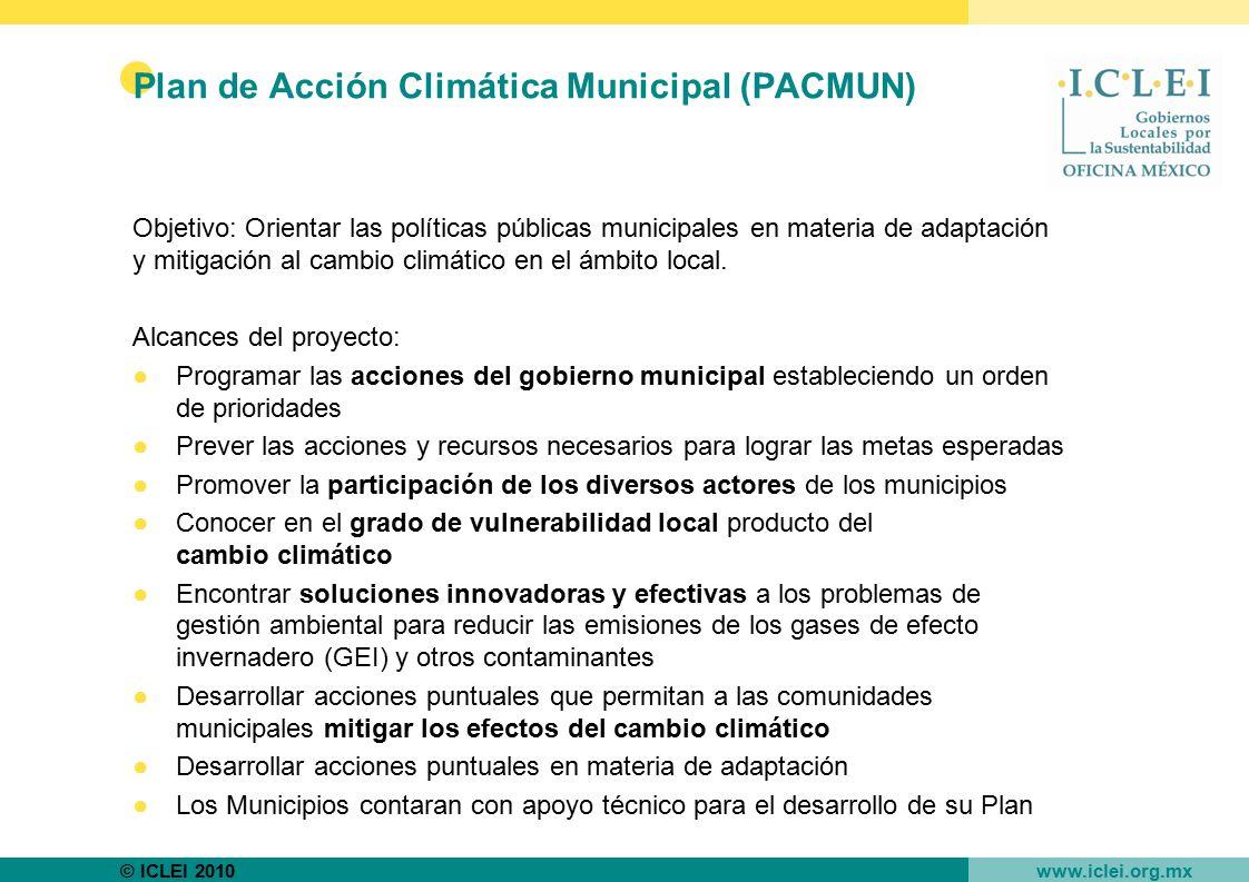 Plan de Acción Climática Municipal (PACMUN)
