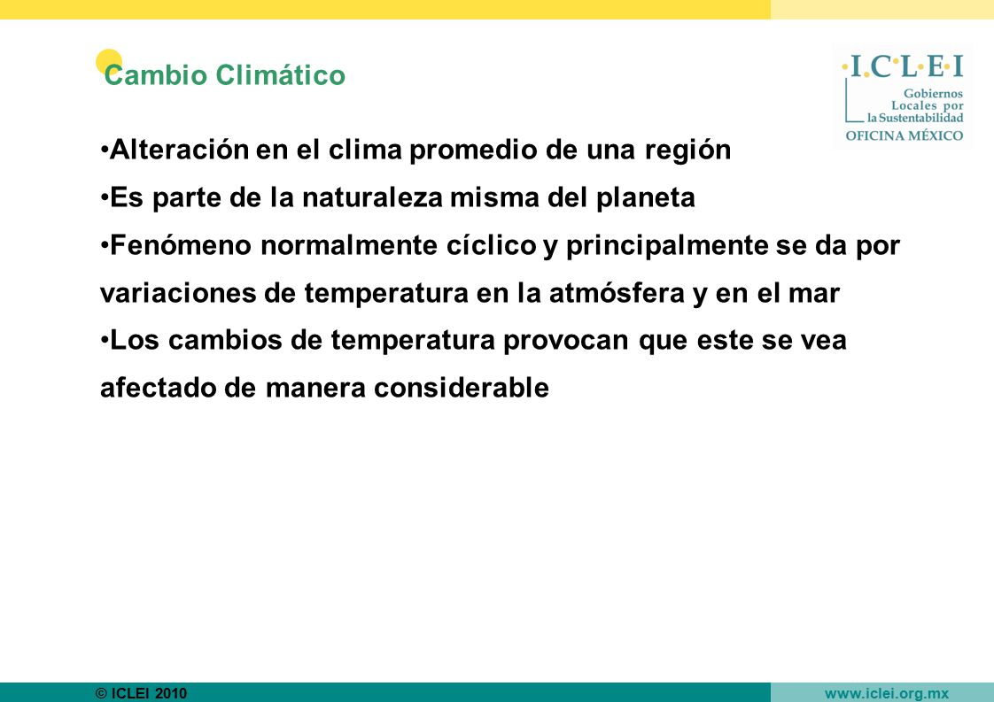 Alteración en el clima promedio de una región