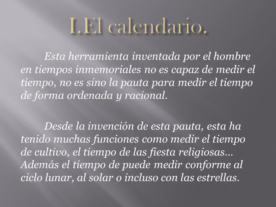 I.El calendario.