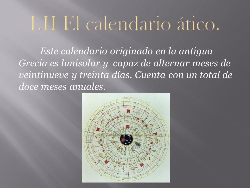 I.II El calendario ático.