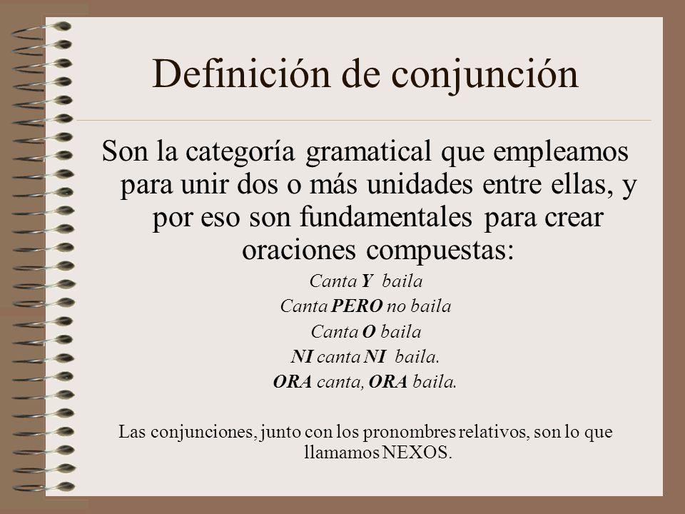 Definición de conjunción