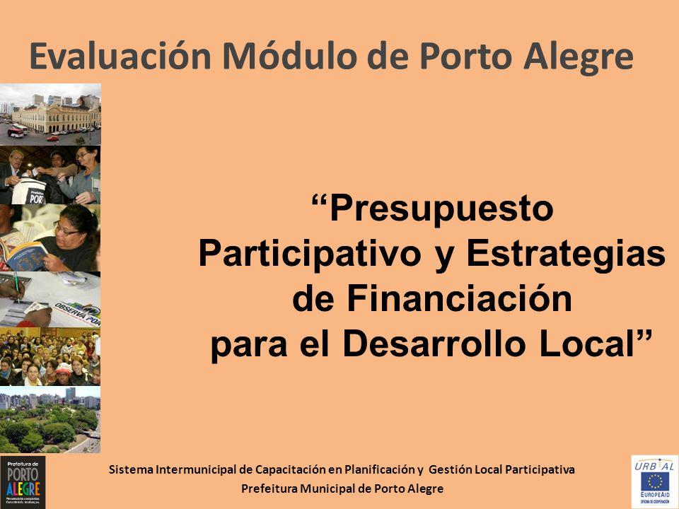para el Desarrollo Local Prefeitura Municipal de Porto Alegre