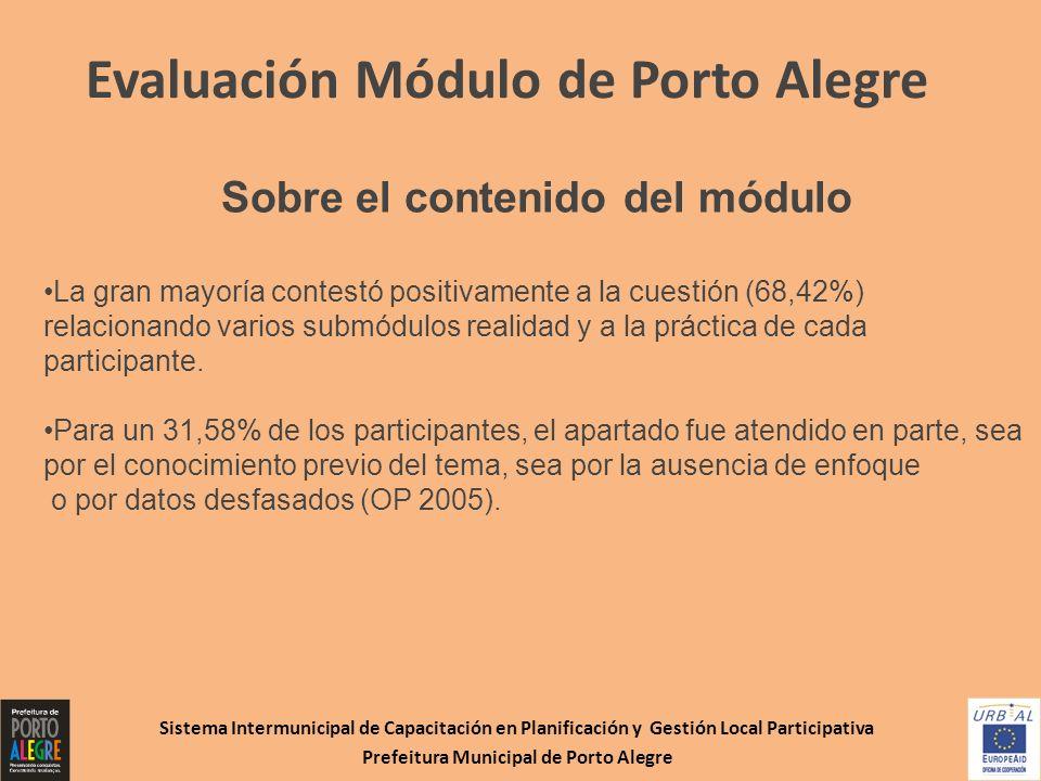 Evaluación Módulo de Porto Alegre