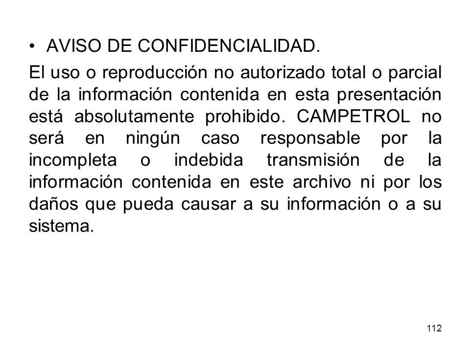 AVISO DE CONFIDENCIALIDAD.