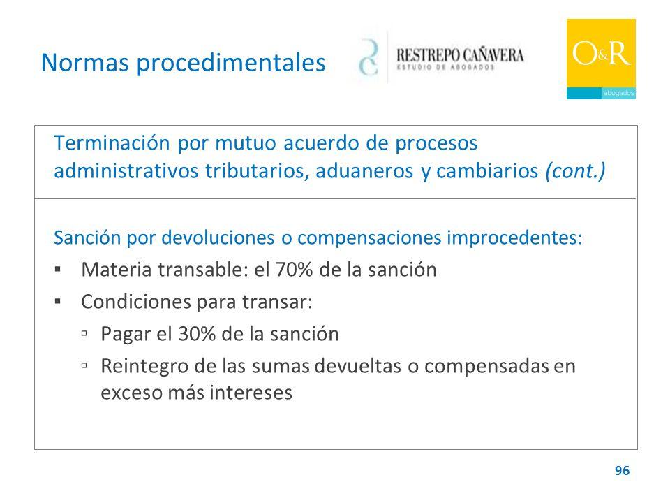 Normas procedimentales
