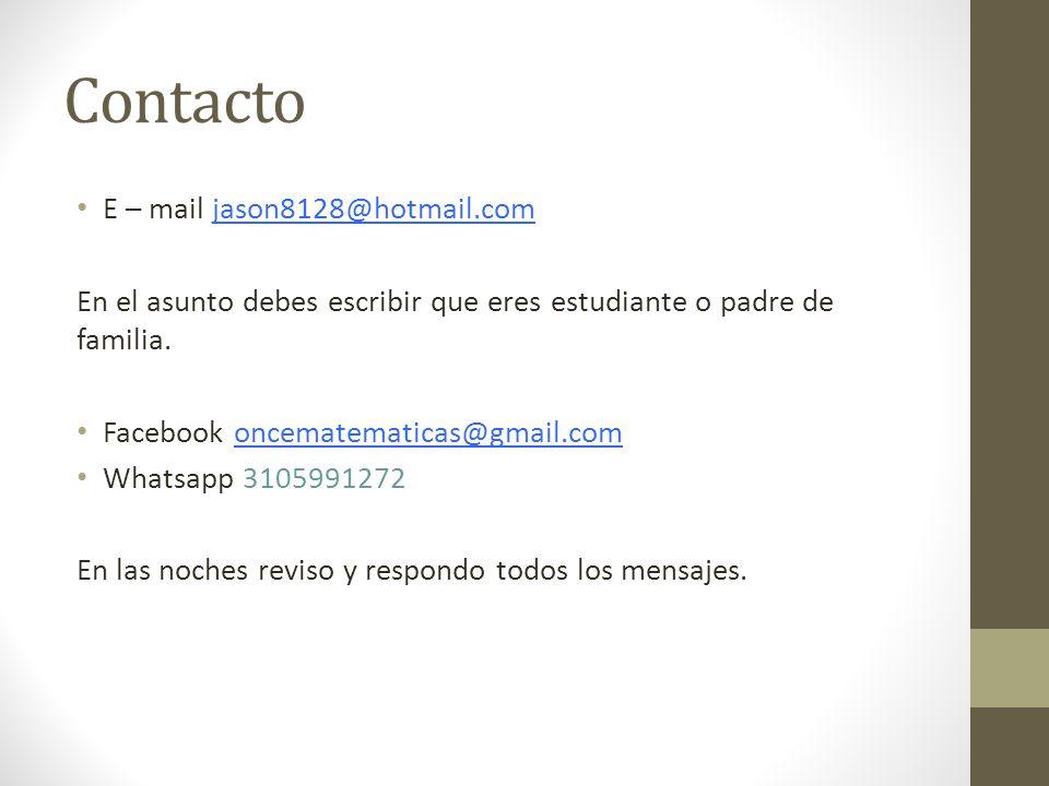Contacto E – mail jason8128@hotmail.com