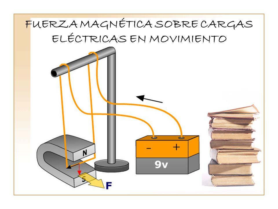 FUERZA MAGNÉTICA SOBRE CARGAS ELÉCTRICAS EN MOVIMIENTO