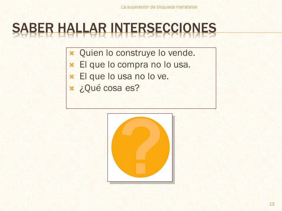Saber hallar intersecciones