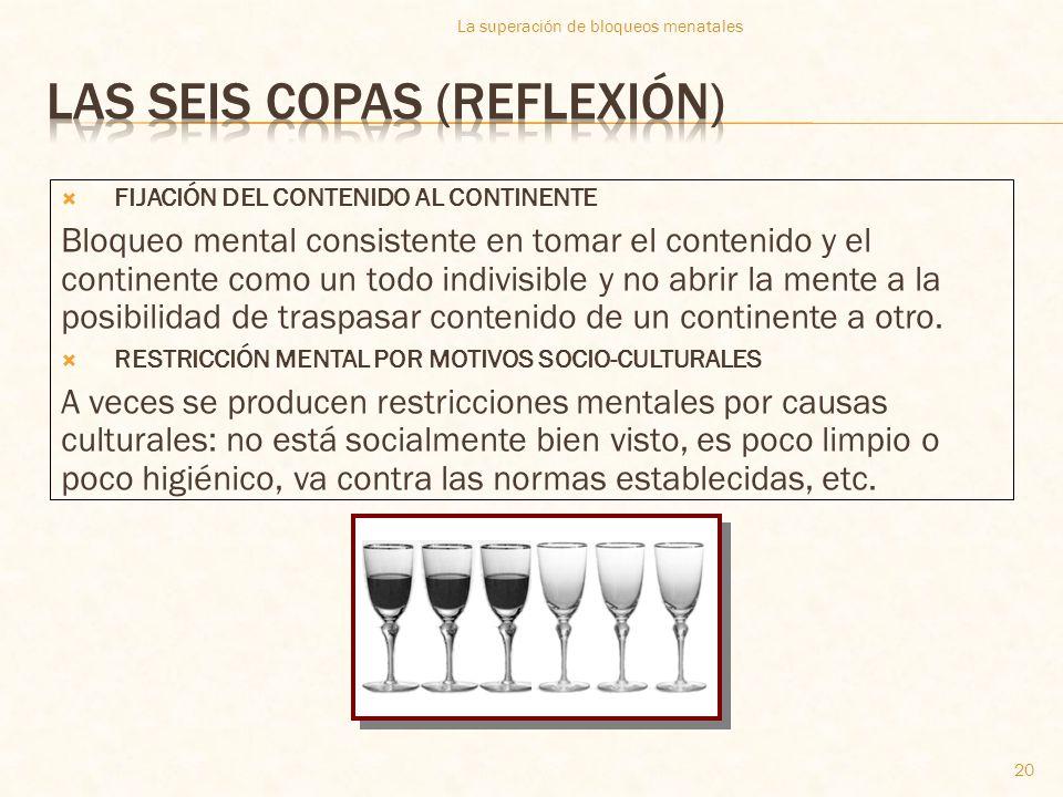 Las seis copas (reflexión)