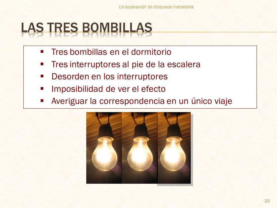 Las tres bombillas Tres bombillas en el dormitorio