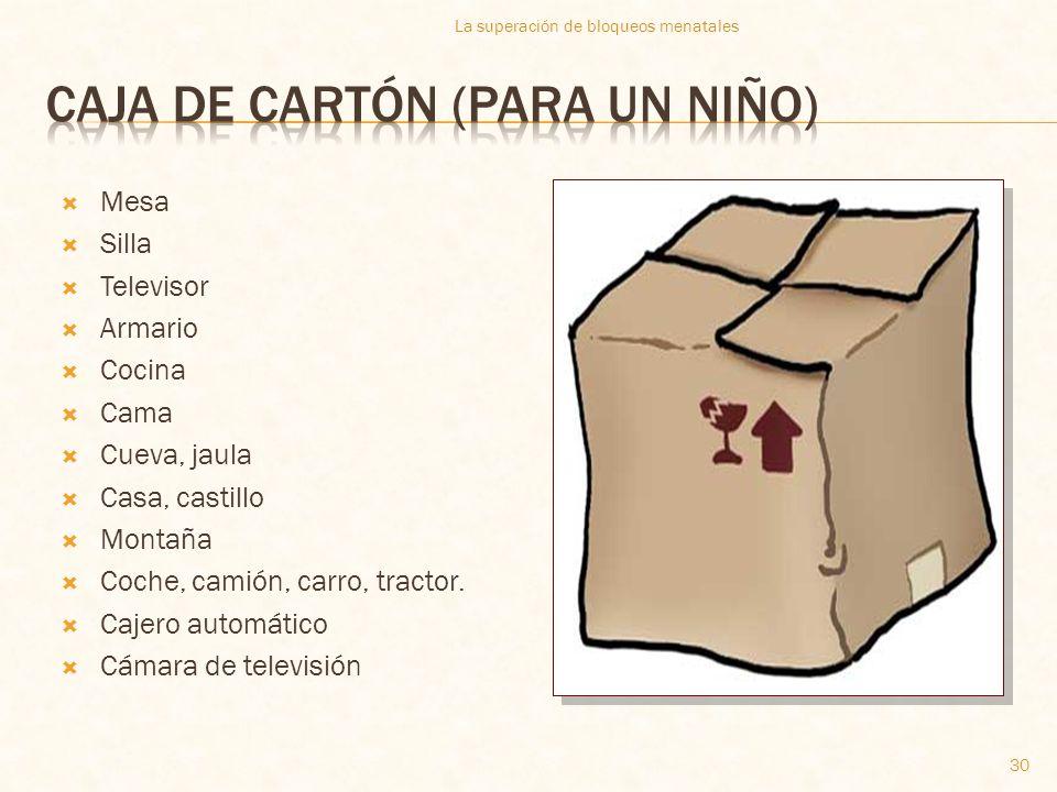 Caja de cartón (para un niño)