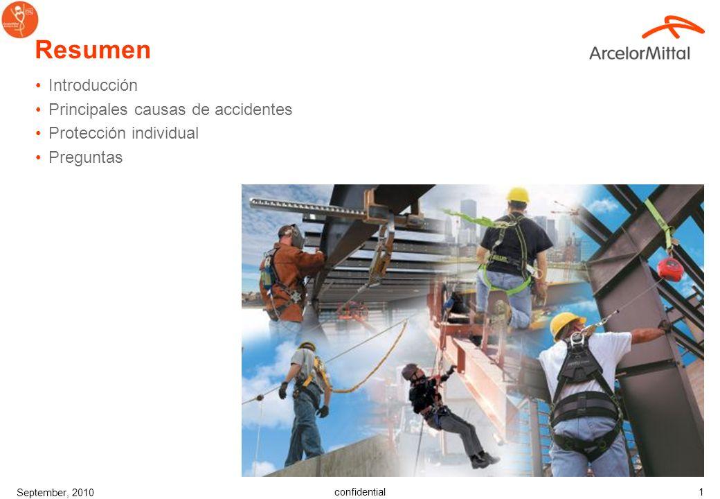 Resumen Introducción Principales causas de accidentes