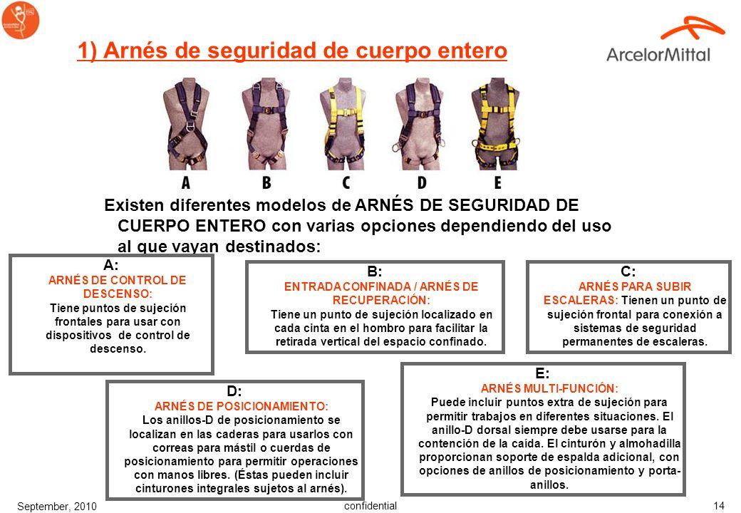1) Arnés de seguridad de cuerpo entero
