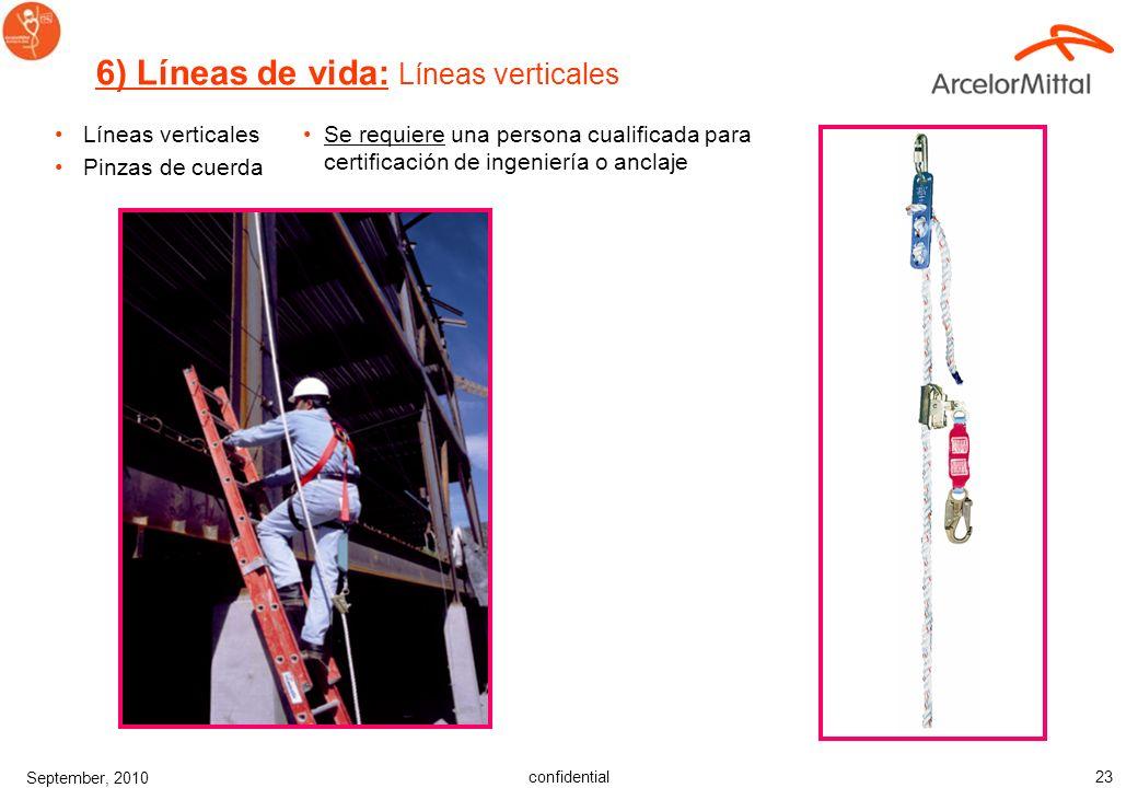 6) Líneas de vida: Líneas verticales