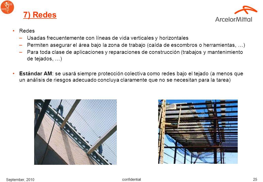 7) Redes Redes. Usadas frecuentemente con líneas de vida verticales y horizontales.
