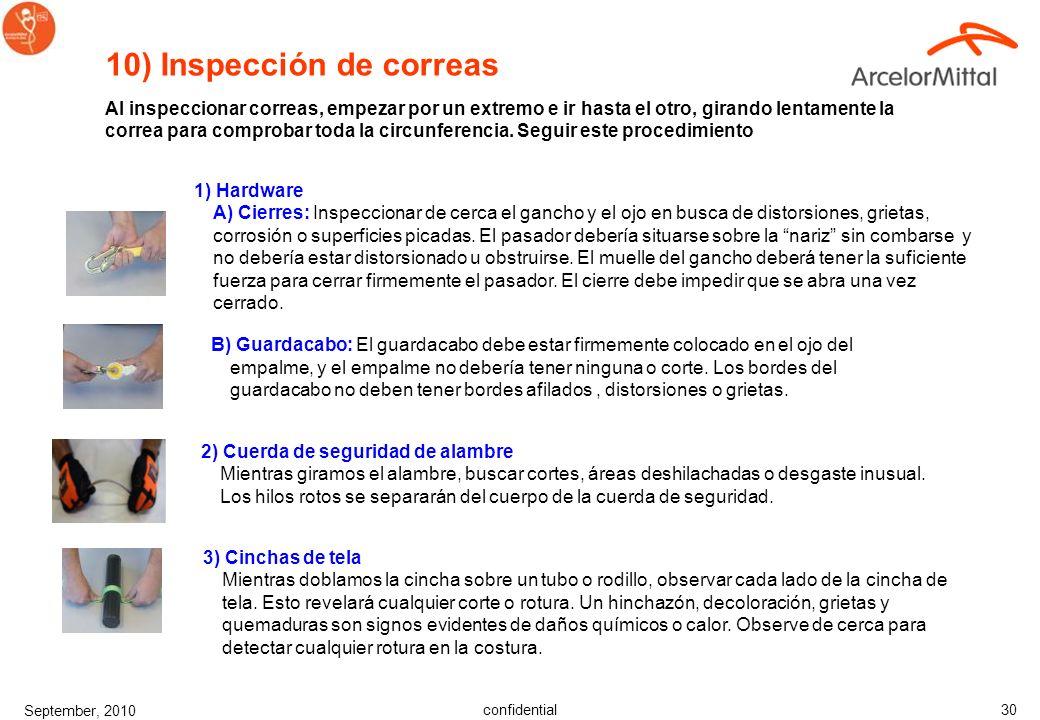 10) Inspección de correas