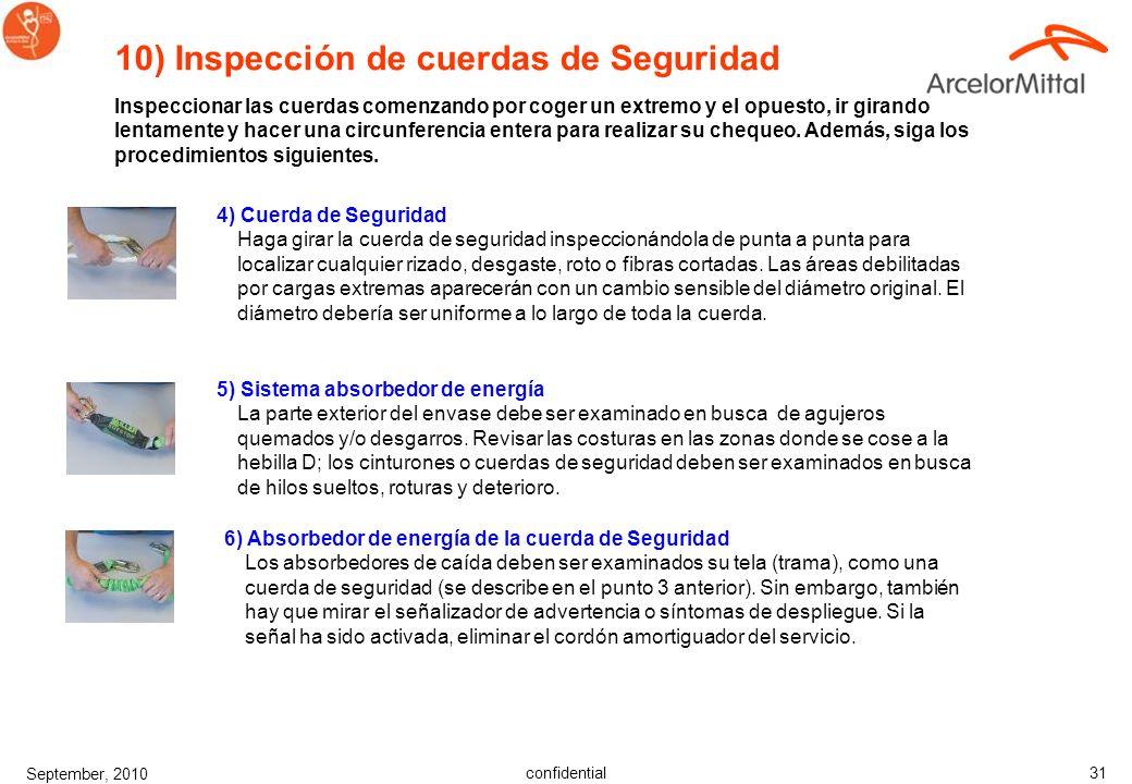 10) Inspección de cuerdas de Seguridad